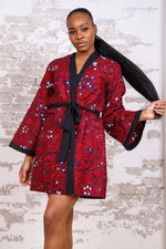 MEDETI AFRICAN PRINT KIMONO WOMEN'S DRESS/TOP - KEJEO DESIGNS