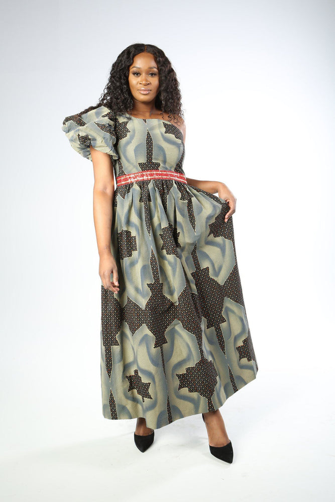 Load image into Gallery viewer, MELISSA African Print Dress DRESS KEJEO