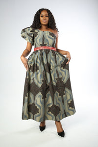 MELISSA African Print Dress DRESS KEJEO S GREY