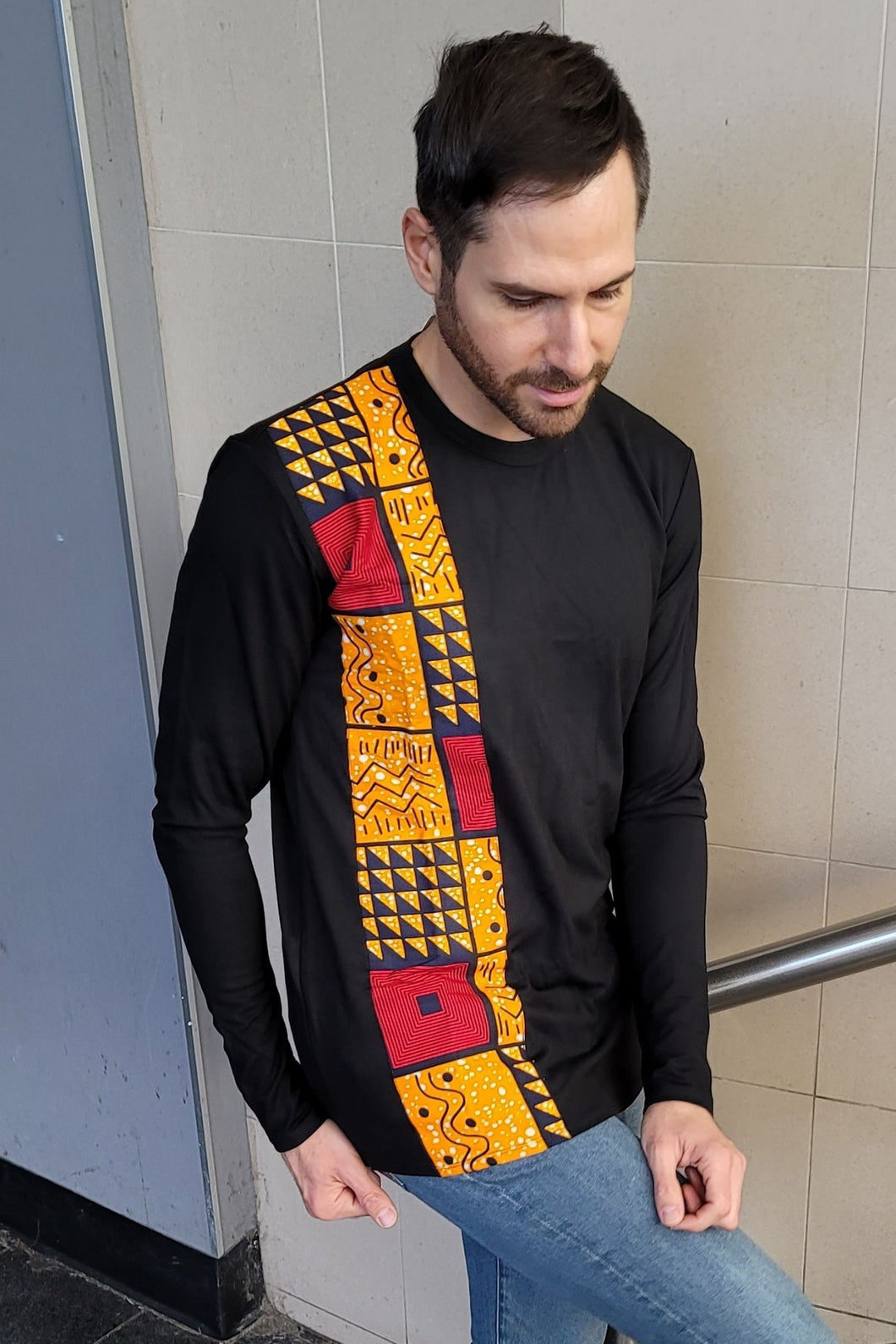MIKO African Print Long Sleeve Men's Shirt - KEJEO DESIGNS