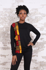 MIKO African Print Long Sleeve Unisex Adults' Shirt - KEJEO DESIGNS