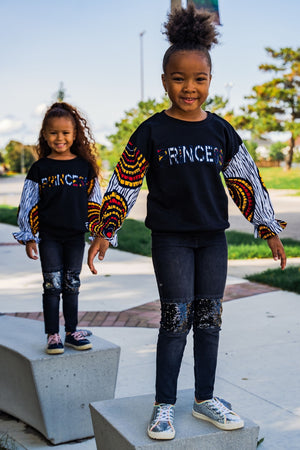 Load image into Gallery viewer, MIWA AFRICAN PRINT GIRLS' SWEATSHIRT - KEJEO DESIGNS