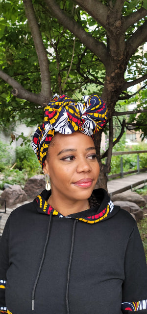 Load image into Gallery viewer, MIWA AFRICAN PRINT HEADWRAP - KEJEO DESIGNS
