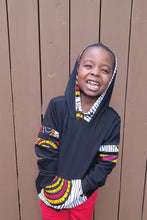 Load image into Gallery viewer, MIWA AFRICAN PRINT UNISEX KIDS' HOODIE SWEATSHIRT - KEJEO DESIGNS