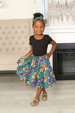 Load image into Gallery viewer, MONU AFRICAN PRINT GIRLS' SKIRT - KEJEO DESIGNS