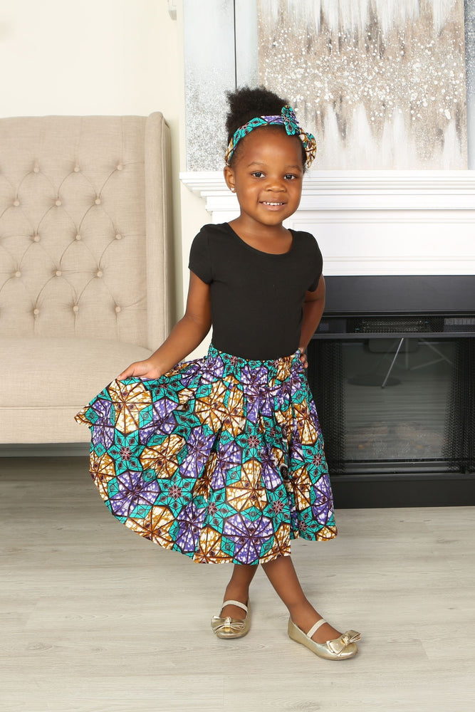 MONU AFRICAN PRINT GIRLS' SKIRT - KEJEO DESIGNS