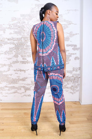 Load image into Gallery viewer, MOPEY AFRICAN PRINT WOMEN'S PANT - KEJEO DESIGNS