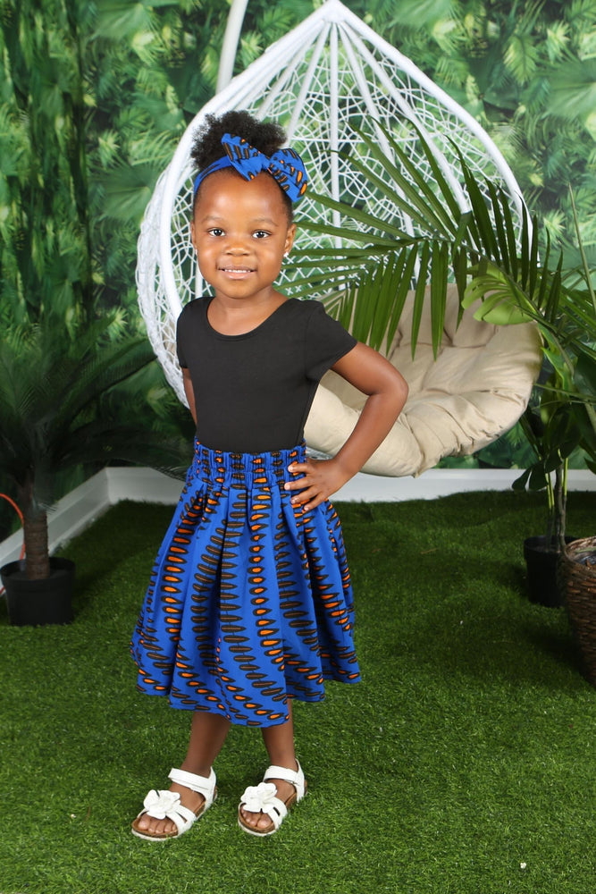 NABILA AFRICAN PRINT GIRLS' SKIRT - KEJEO DESIGNS