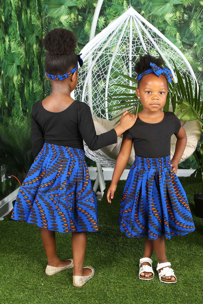 Load image into Gallery viewer, NABILA AFRICAN PRINT GIRLS' SKIRT - KEJEO DESIGNS