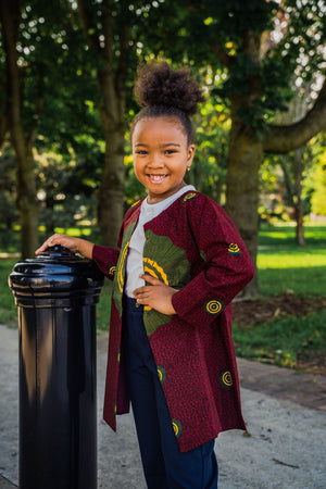 NARISSA AFRICAN PRINT GIRLS' JACKET - KEJEO DESIGNS