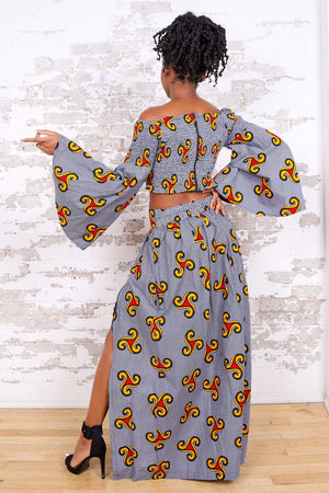 Load image into Gallery viewer, NAVIA AFRICAN PRINT WOMEN'S MAXI SKIRT - KEJEO DESIGNS