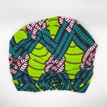 Load image into Gallery viewer, NITA African Print Bonnet II Set (Ball Knot) (GREEN) - KEJEO DESIGNS