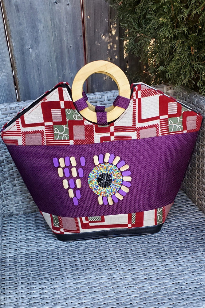 Load image into Gallery viewer, OLAVA African Print Bag - KEJEO DESIGNS