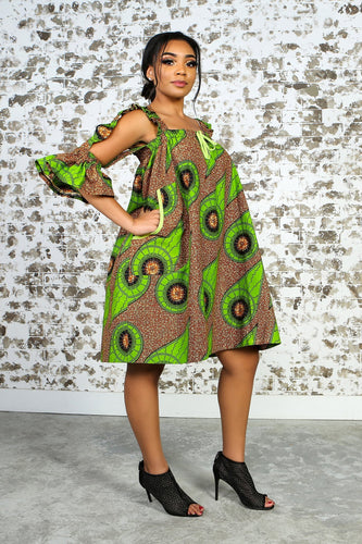 OLUA African Print Dress - KEJEO DESIGNS