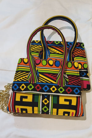 Load image into Gallery viewer, OREYLA African Print Mini Bag - KEJEO DESIGNS