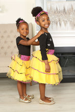 Load image into Gallery viewer, OZU AFRICAN PRINT GIRLS' TIERED TULLE SKIRT - KEJEO DESIGNS
