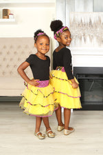OZU AFRICAN PRINT GIRLS' TIERED TULLE SKIRT - KEJEO DESIGNS