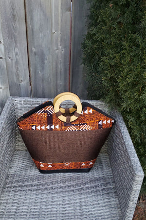 Load image into Gallery viewer, PENELA African Print Bag - KEJEO DESIGNS