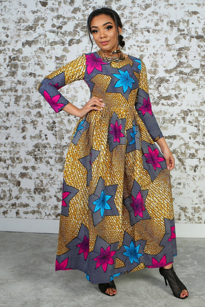 PRUDENCIA African Print Dress DRESS KEJEO