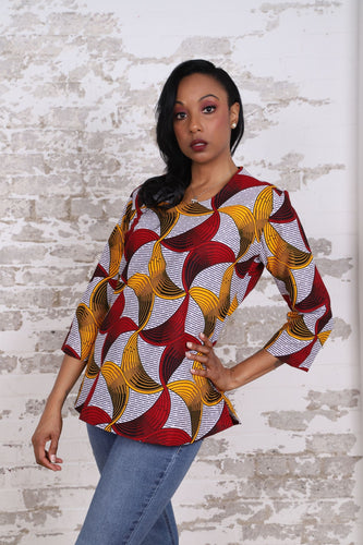 RODAH AFRICAN PRINT WOMEN'S TOP - KEJEO DESIGNS