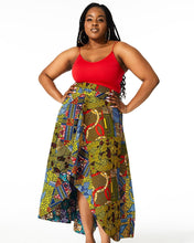 Load image into Gallery viewer, SANSSAN African Print Hi-Low Skirt SKIRT KEJEO