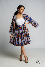 Load image into Gallery viewer, SINGUE African Print Mini Skirt SKIRT KEJEO