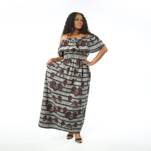 SINGUE II maxi dress DRESS KEJEO One size Gray