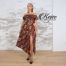 Load image into Gallery viewer, SORAYA African Print Maxi Skirt SKIRT KEJEO