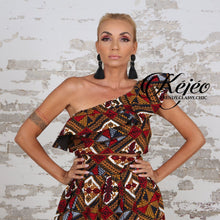 Load image into Gallery viewer, SORAYA I African Print Crop Top KEJEO