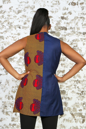 Load image into Gallery viewer, SOUSOUNI African Print Vest - KEJEO DESIGNS