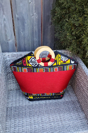 Load image into Gallery viewer, TABELA African Print Bag - KEJEO DESIGNS