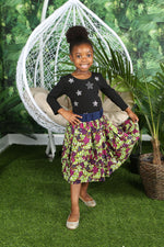 TAMIA AFRICAN PRINT GIRLS' SKIRT - KEJEO DESIGNS