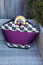 Load image into Gallery viewer, TELIYA African Print Bag (Purple) - KEJEO DESIGNS