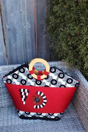 TELIYA African Print Bag (RED) - KEJEO DESIGNS