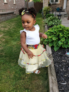 TESI AFRICAN PRINT GIRLS' TIERED TULLE SKIRT - KEJEO DESIGNS