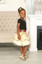 Load image into Gallery viewer, TESI AFRICAN PRINT GIRLS' TIERED TULLE SKIRT - KEJEO DESIGNS