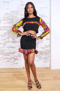TOUMI AFRICAN PRINT CROP TOP - KEJEO DESIGNS