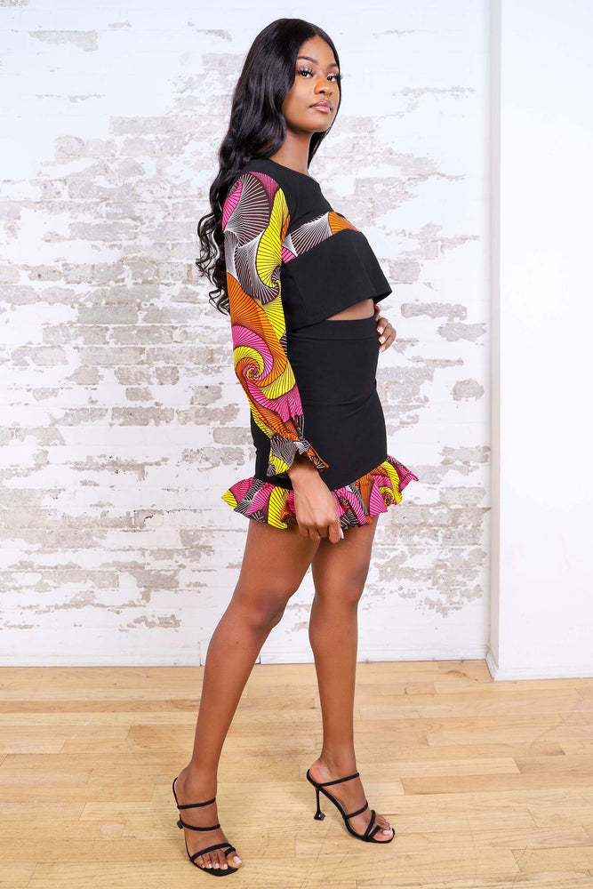 TOUMI AFRICAN PRINT WOMEN'S MINI SKIRT - KEJEO DESIGNS