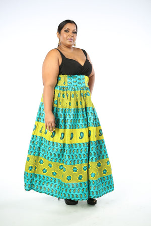 Load image into Gallery viewer, UDU African Print Women's Maxi Skirt - KEJEO DESIGNS