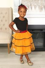 Load image into Gallery viewer, YAYA AFRICAN PRINT GIRLS' TIERED TULLE SKIRT - KEJEO DESIGNS