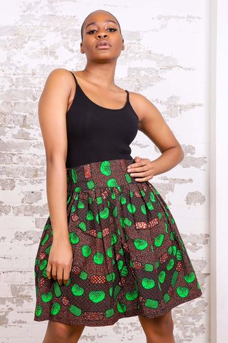YEDOHA AFRICAN PRINT WOMEN'S MINI SKIRT - KEJEO DESIGNS