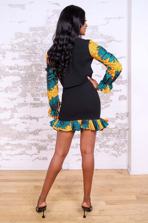 ZENATOU AFRICAN PRINT WOMEN'S MINI SKIRT - KEJEO DESIGNS