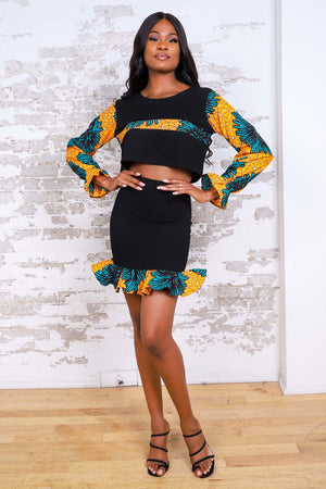 Load image into Gallery viewer, ZENATOU AFRICAN PRINT WOMEN'S MINI SKIRT - KEJEO DESIGNS