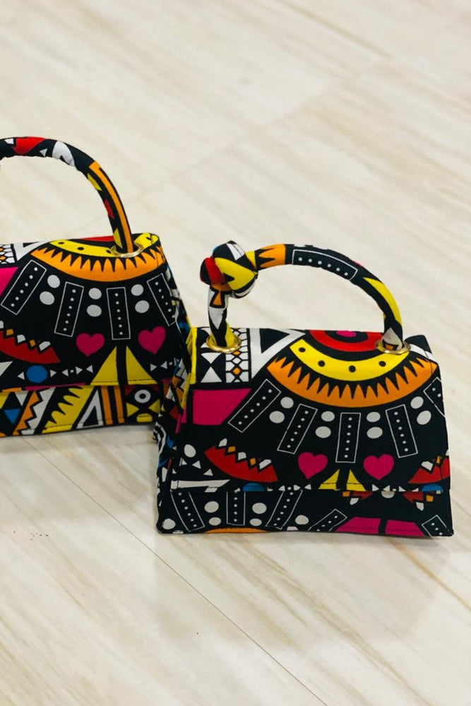 ZIRA African Print Mini Bag (With Knot) - KEJEO DESIGNS