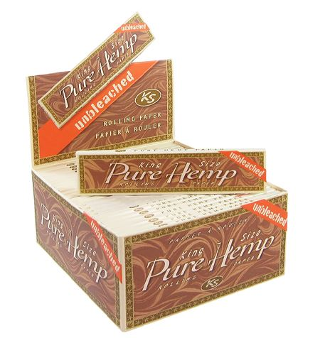 Unbleached Pure Hemp King size Papers