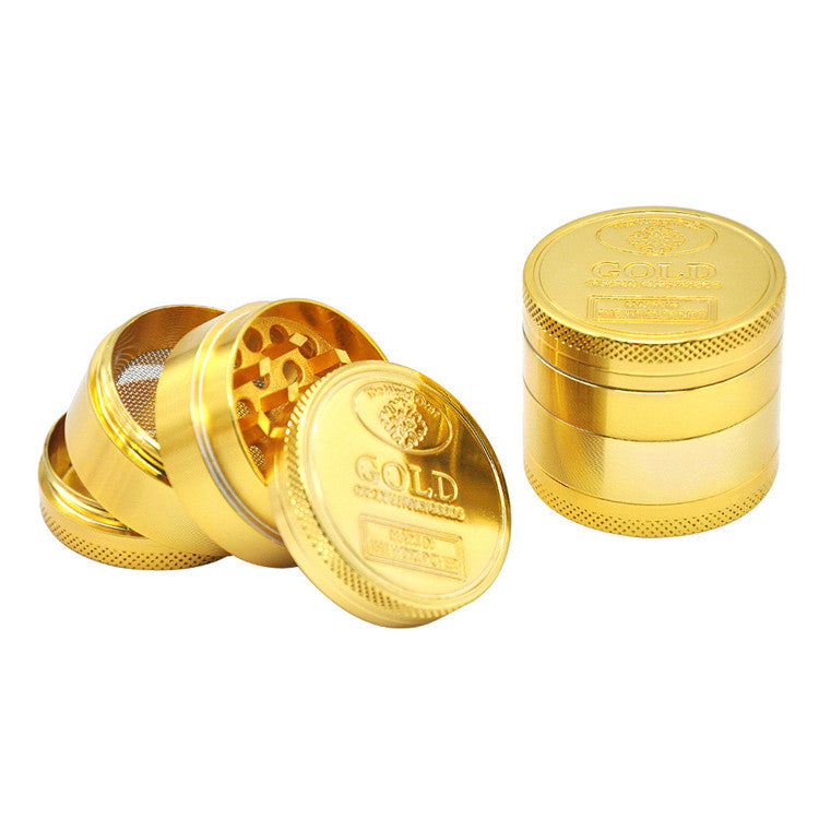 4Pc Gold Aluminium Grinder