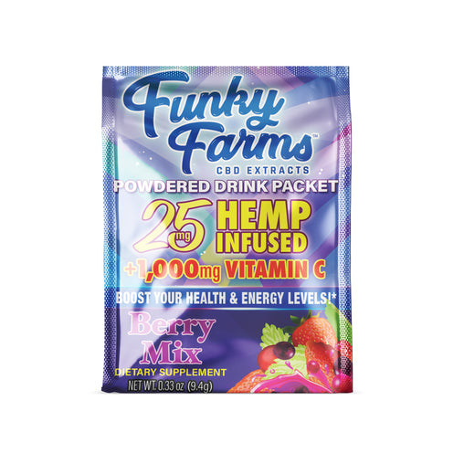 Funky Farms CBD Drink Packet (25mg) - Berry