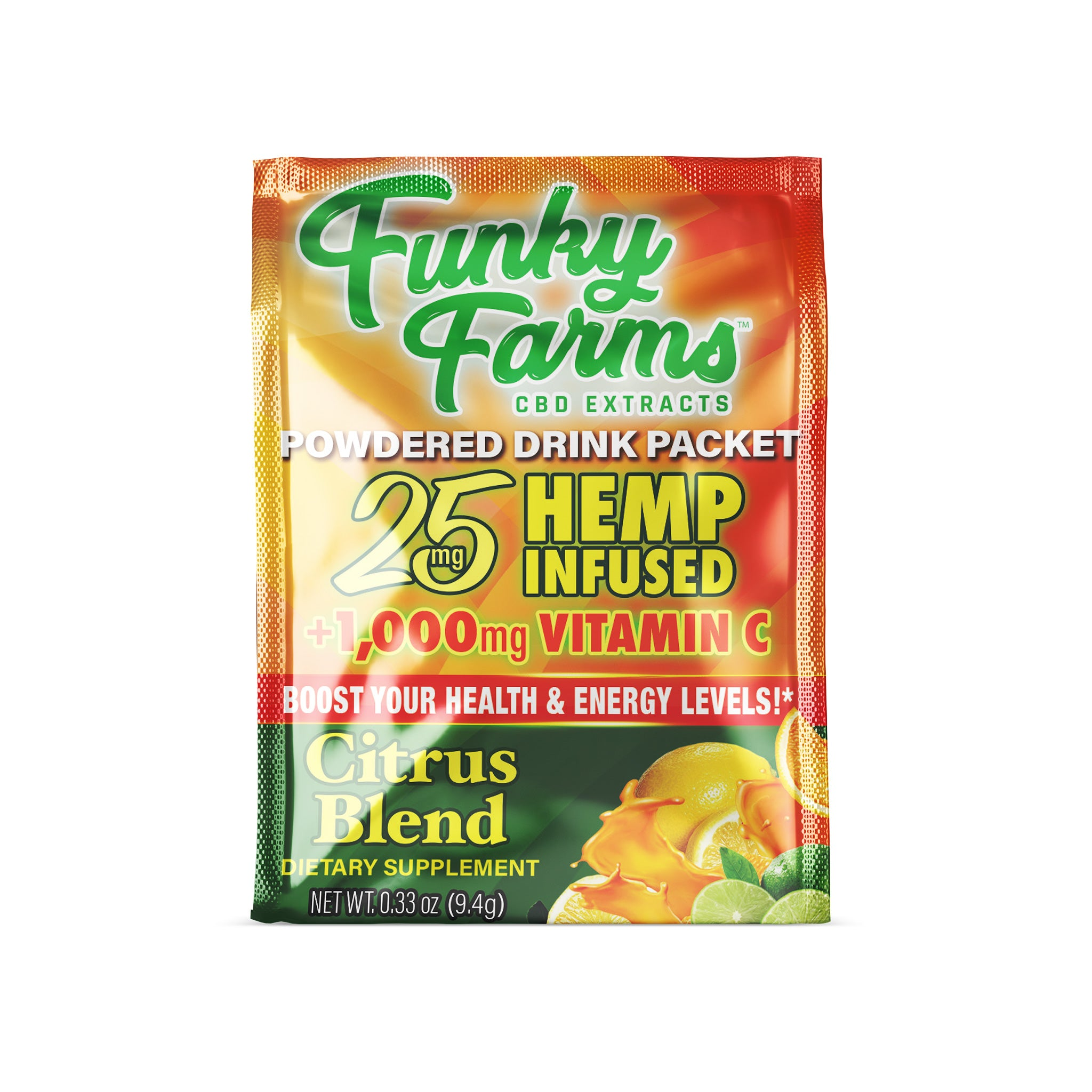 Funky Farms CBD Drink Packet (25mg) - Citrus