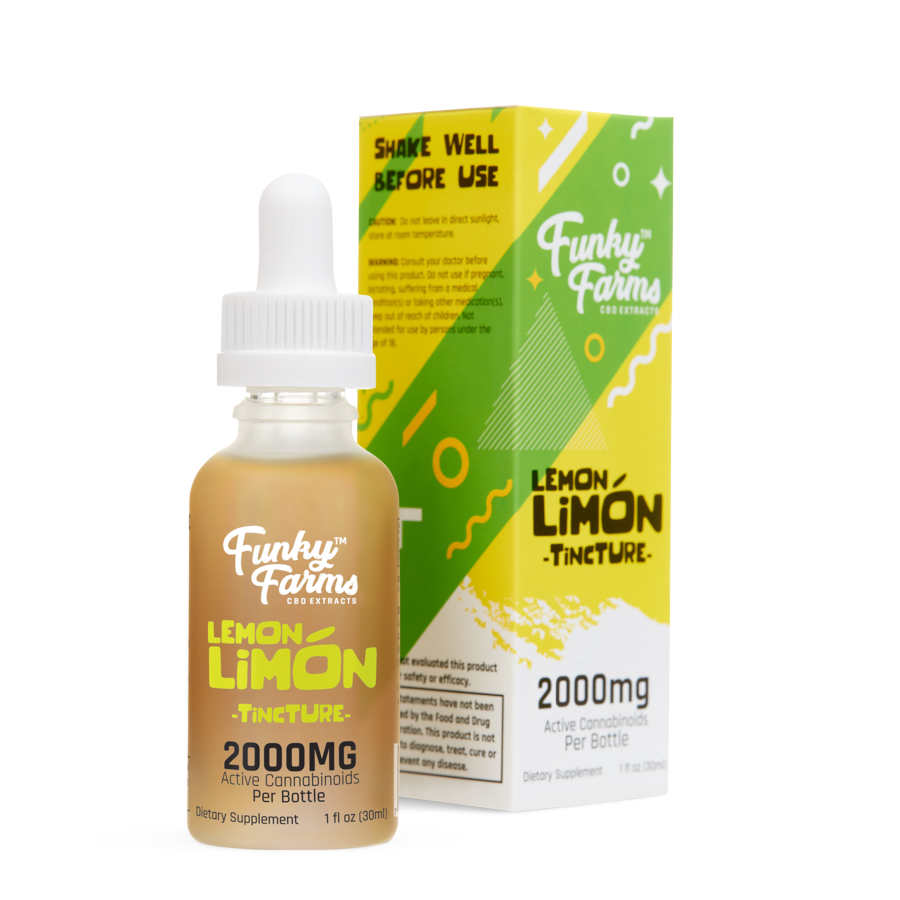 Funky Farms CBD Oil Tincture - Lemon Limon