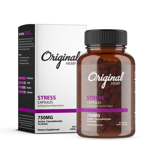 Stress Capsules (750mg) | Full Spectrum Hemp Extract